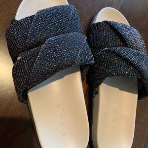 LIKE NEW Zara Glittery Slides